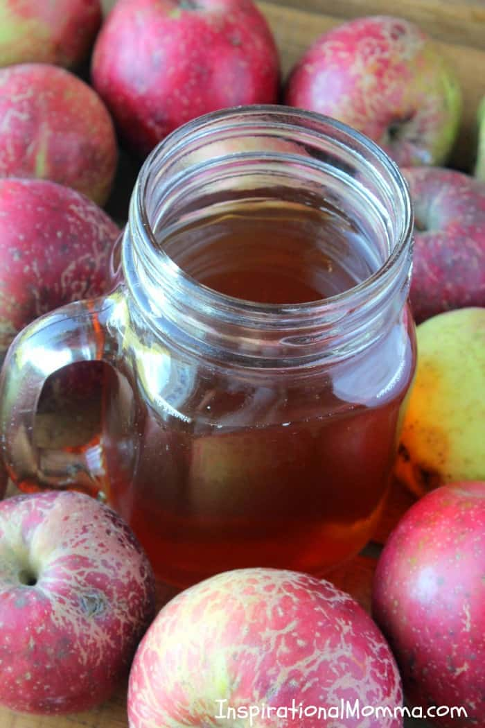 Hot Apple Cider-The amazing blend of cinnamon, cloves, and brown sugar creates the perfect cider to satisfy everyone! #InspirationalMomma #HotAppleCider #AppleCider #Apple #Cider