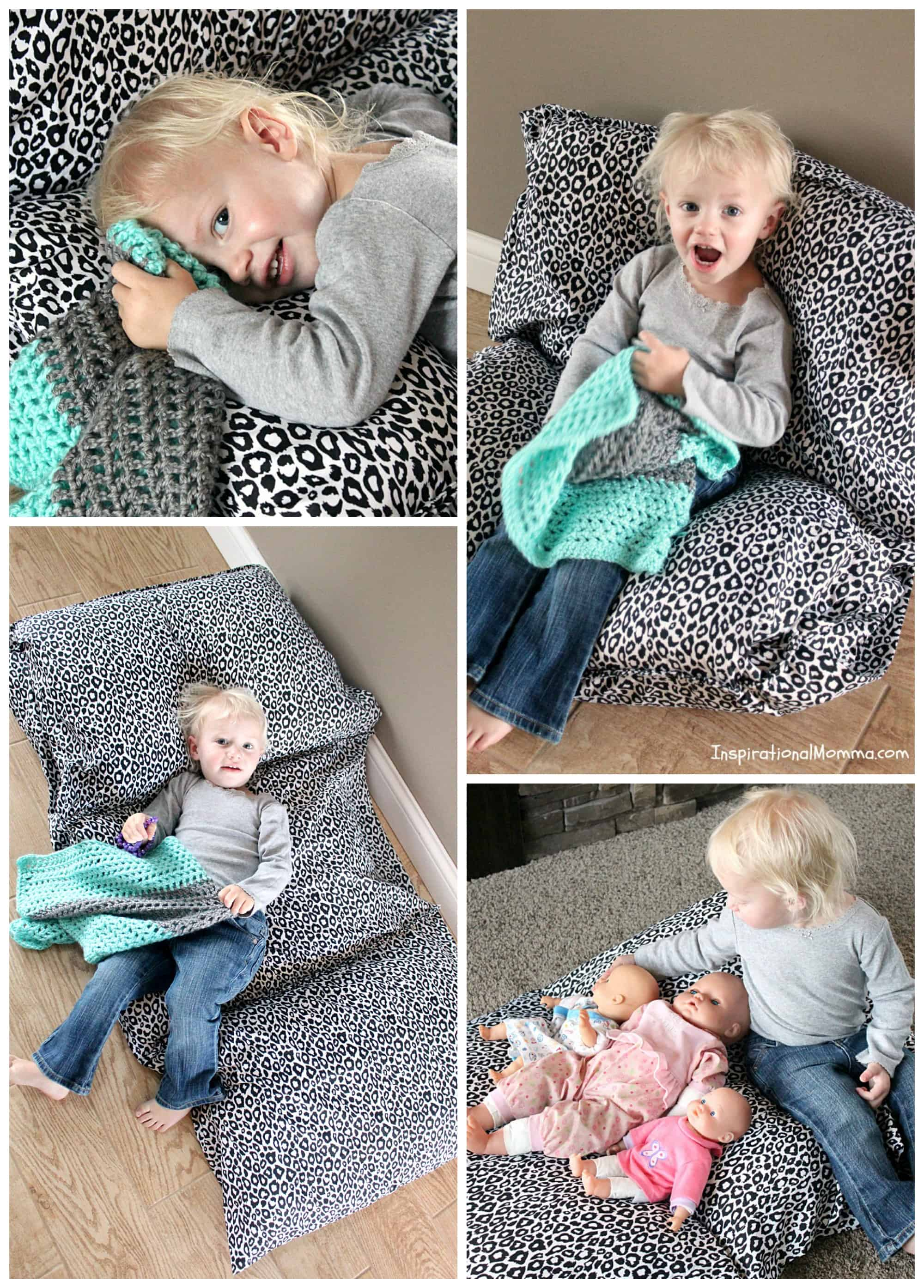 Pillowcase Bed/Chair-This bed/chair is inexpensive and so easy to make. Your little one will love discovering just how many ways it can be used!