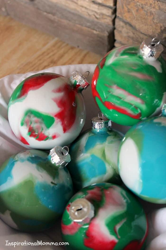Easy Painted Christmas Ornaments - These simple DIY painted ornaments will be the focal point with their unique look and custom colors.
