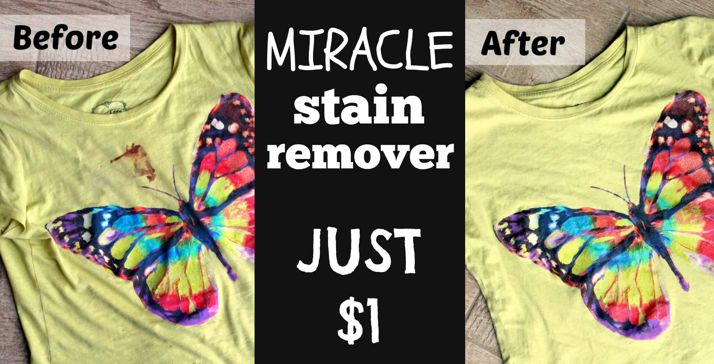 Got stains? This Miracle Stain Remover is the answer to your problems. At just $1.00, you will be amazed at what it can do for you!