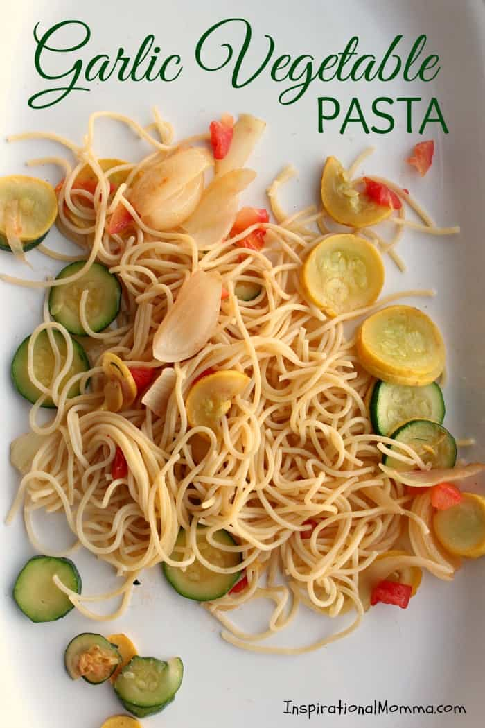 This quick and healthy Garlic Vegetable Pasta is absolutely delicious. Filled with flavorful vegetables and just the right amount of garlic, it will have you asking for more!
