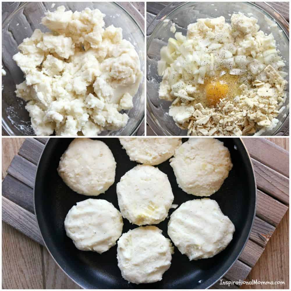 Leftover Mashed Potato Patties - Bring those mashed potatoes back to life by creating Leftover Mashed Potato Patties. They are a delicious addition to any meal and will have you viewing leftovers in a whole new way!