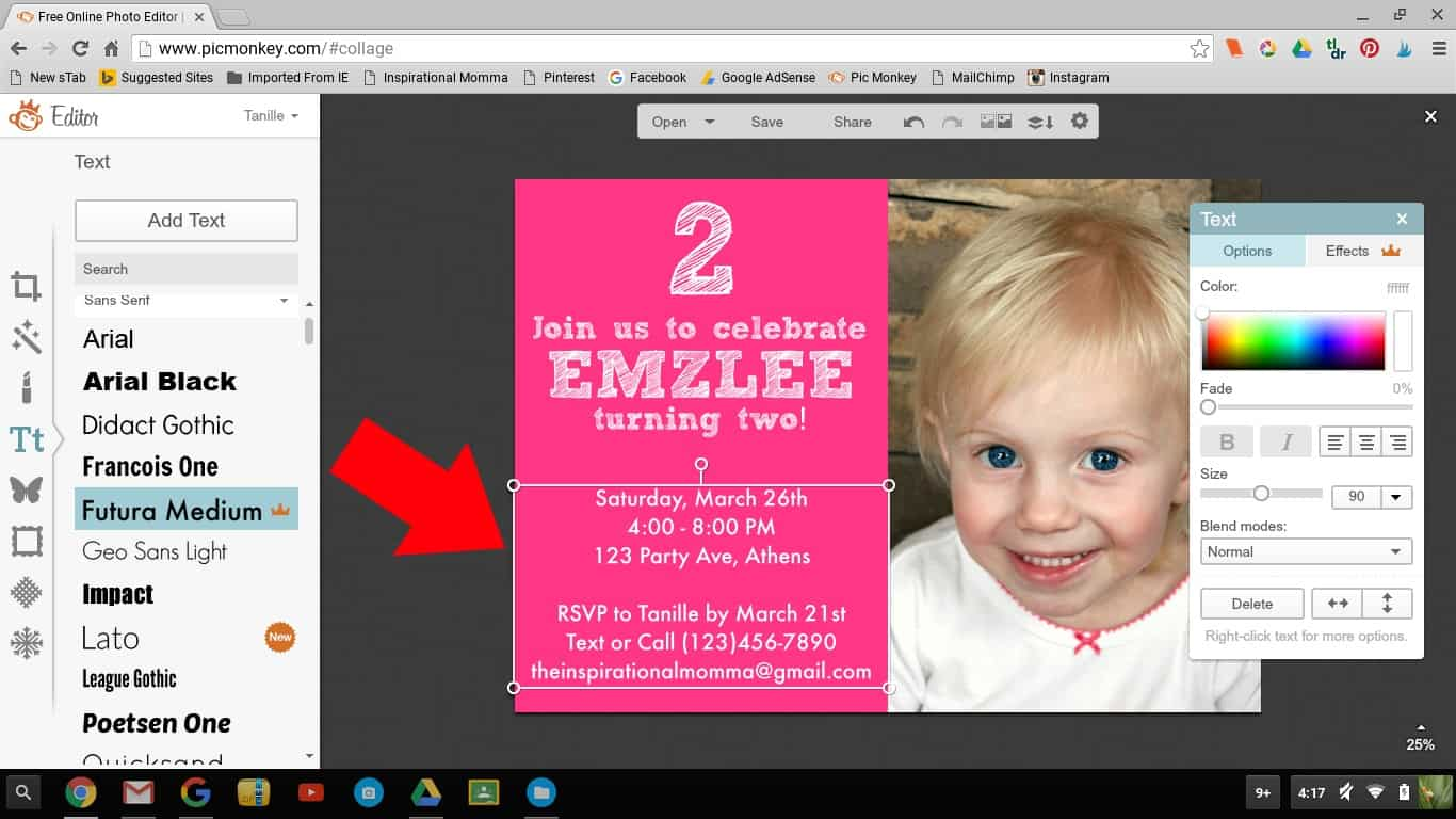 This tutorial will teach you to Create An Invitation With PicMonkey. Birthdays, Graduations, Birth Announcements, etc! Prepare to be amazed!