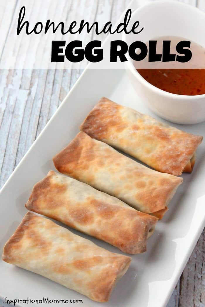 These healthy Homemade Egg Rolls are packed with a delicious combination of meat and yummy vegetables and are sure to become a new favorite!