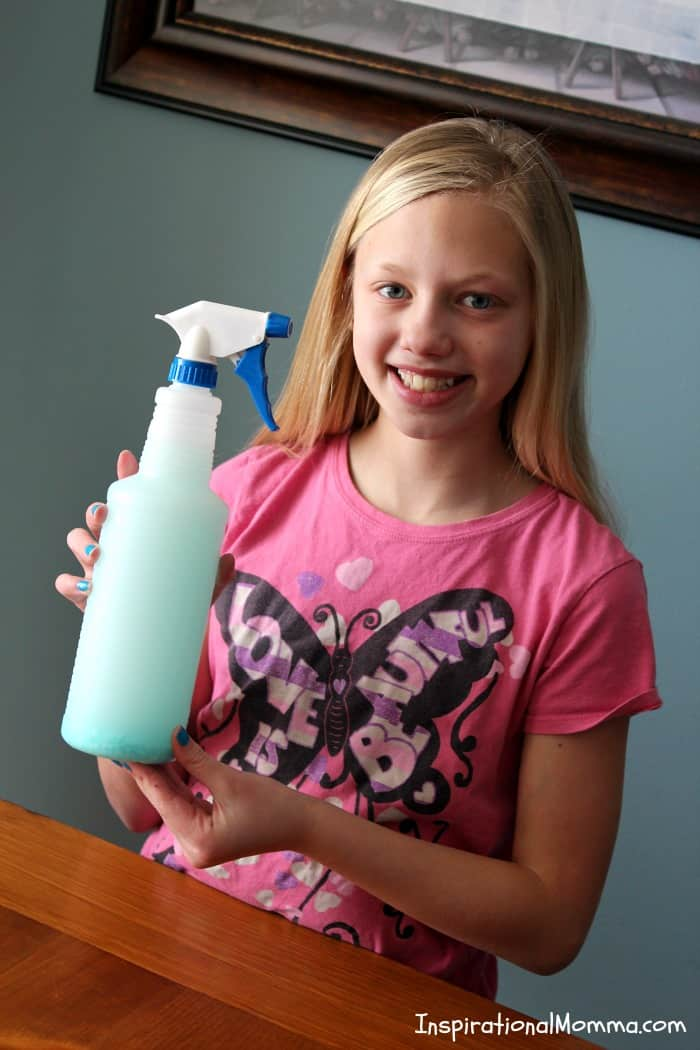 With just 4 ingredients, this DIY Homemade Febreze will keep you on a budget and will leave your home smelling fresh and inviting! #inspirationalmomma #homemadefebreze #febreze #homemade #diy