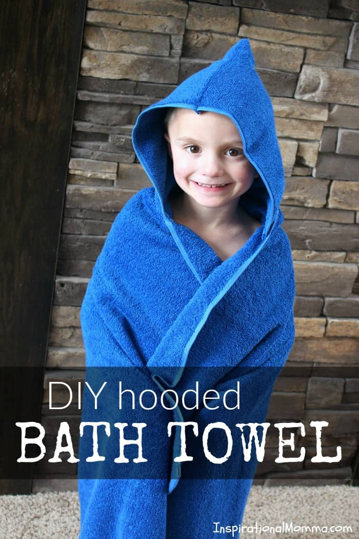 Just look at this cute, easy DIY Hooded Bath Towel! It is a perfect sewing project for beginners. You can create one today for a sweetheart in your life!
