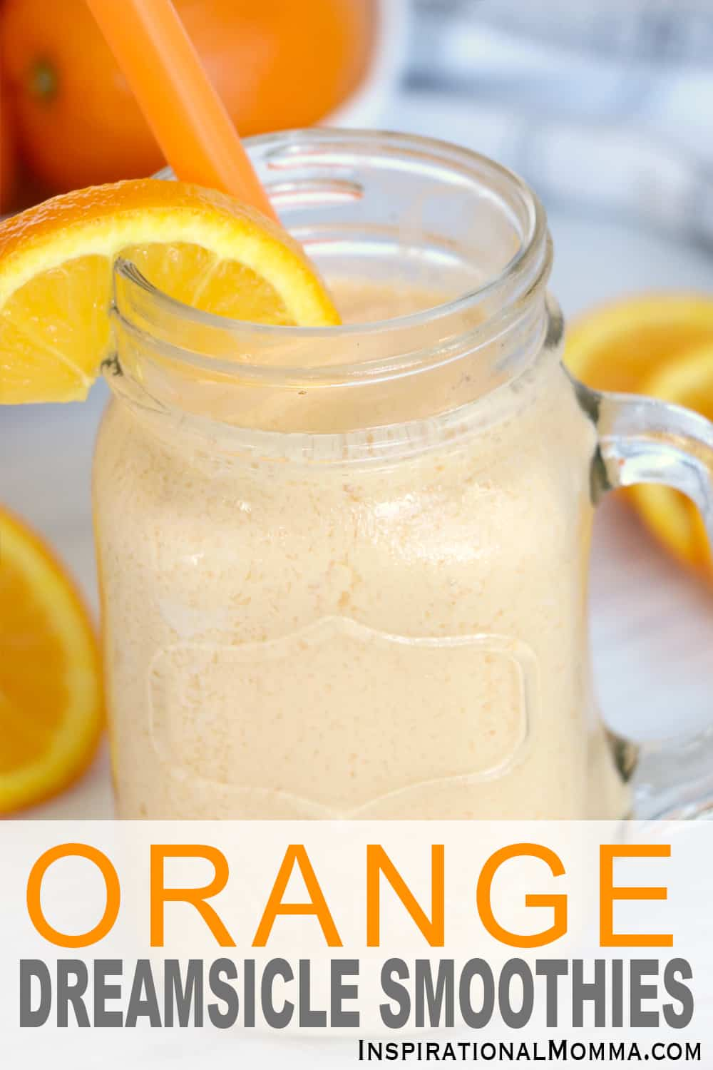This Orange Dreamsicle Smoothie is cool, refreshing, and oh so delicious! It is guaranteed to leave you satisfied and wanting more! #inspirationalmomma #orangedreamsiclesmoothie #smoothie #drink #smoothies #orange #recipe