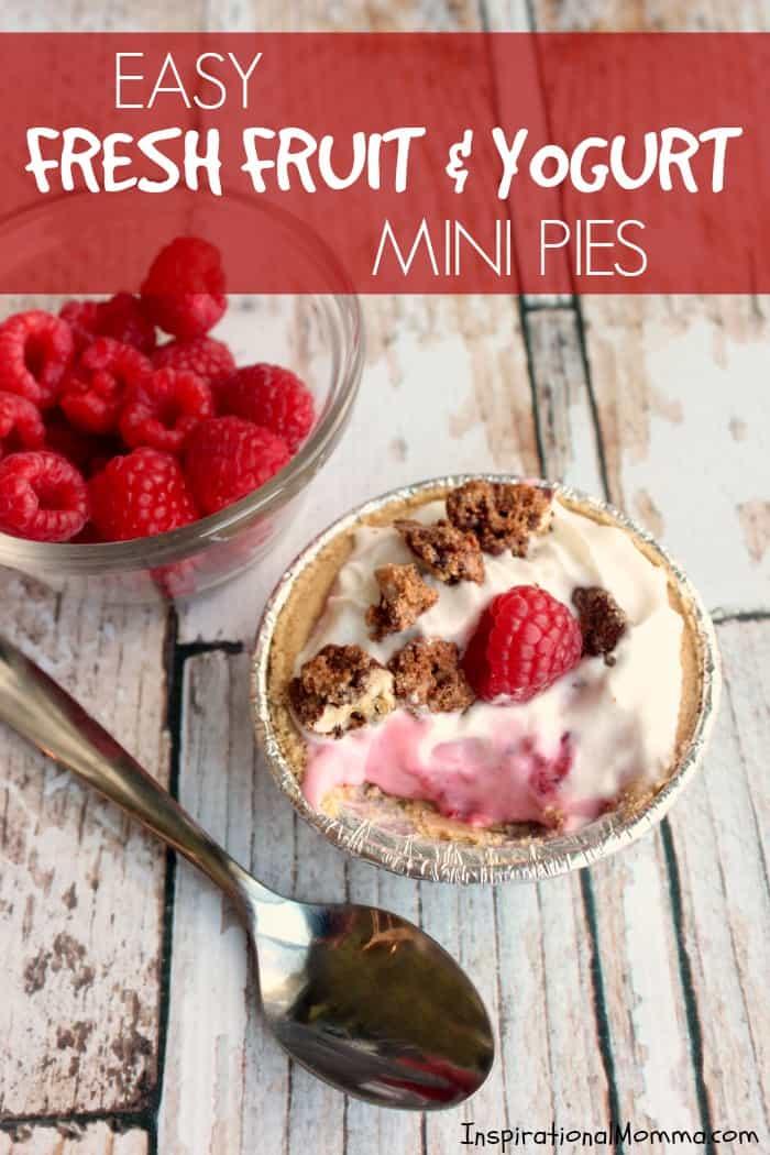 Easy Fresh Fruit & Yogurt Mini Pies