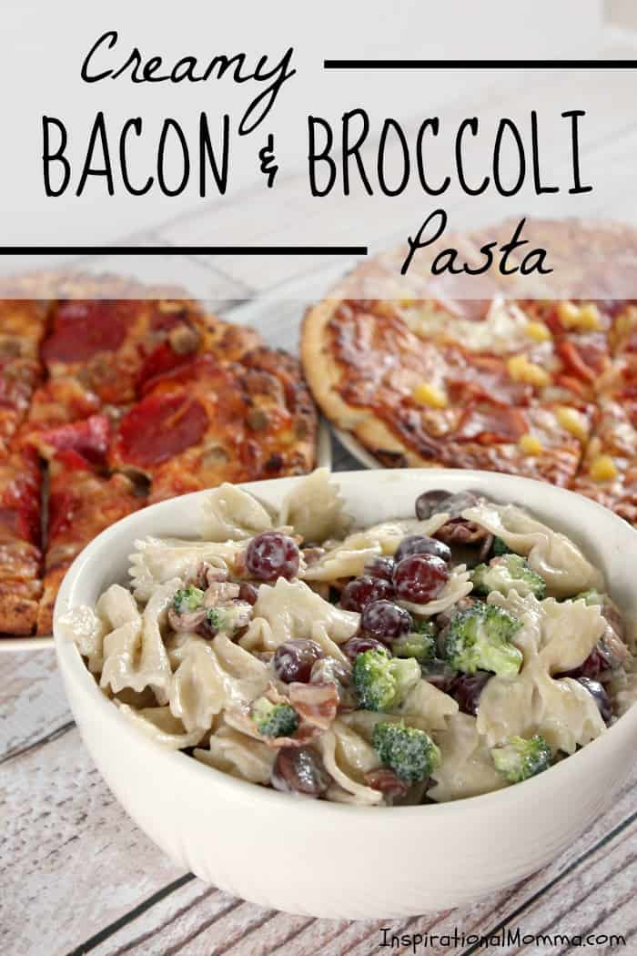 This Creamy Bacon & Broccoli Pasta is the perfect addition to any meal. Fresh, crunchy, and sweet! #TimelessPizza #CollectiveBias
