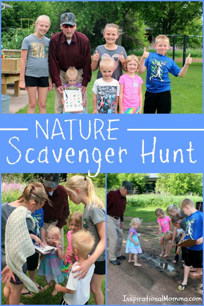 Its time for a Nature Scavenger Hunt. While searching for objects and critters, you will smile, giggle, and make many memories! #CelebrateAmazingDads