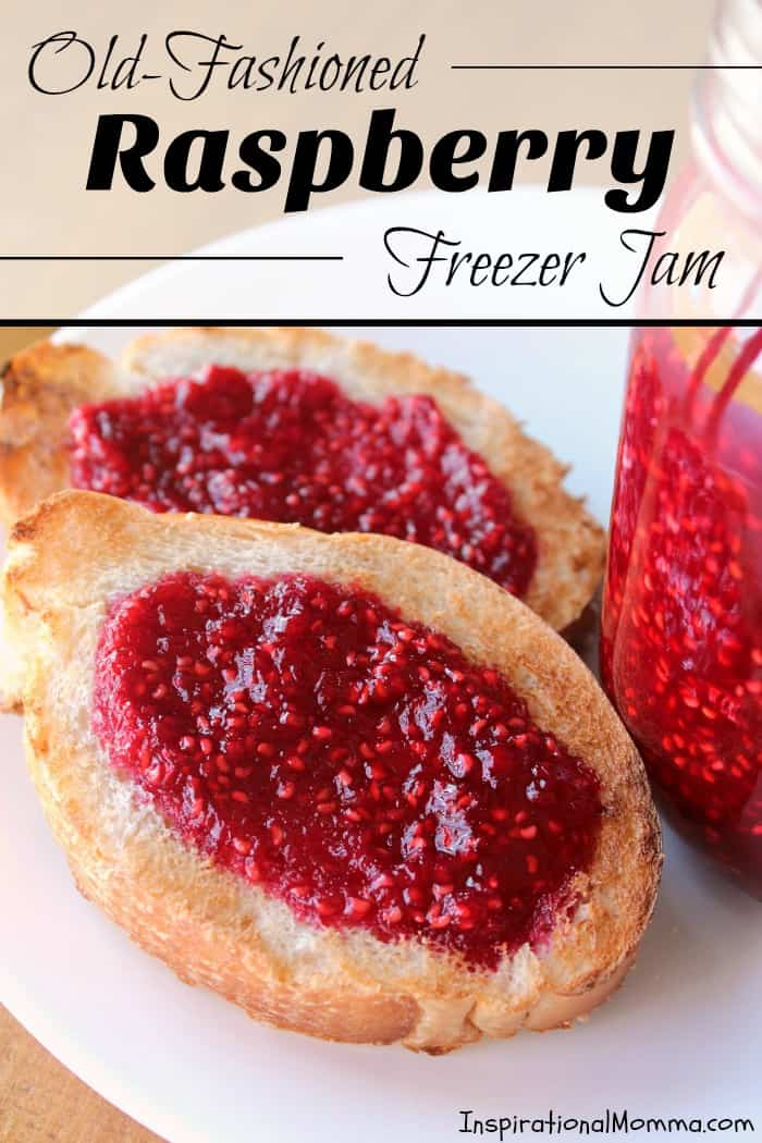 This Old-Fashioned Raspberry Freezer Jam will become a staple in your household! Sweet, delicious, and simple to make...even you can do it!