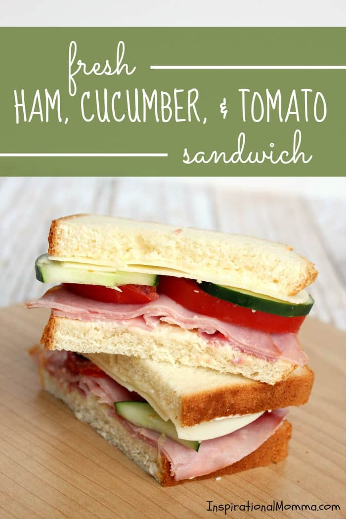 Make it fast and make it delicious! This Fresh Ham, Cucumber, & Tomato Sandwich is perfect on-the-go or at home! #SandwichWithTheBest
