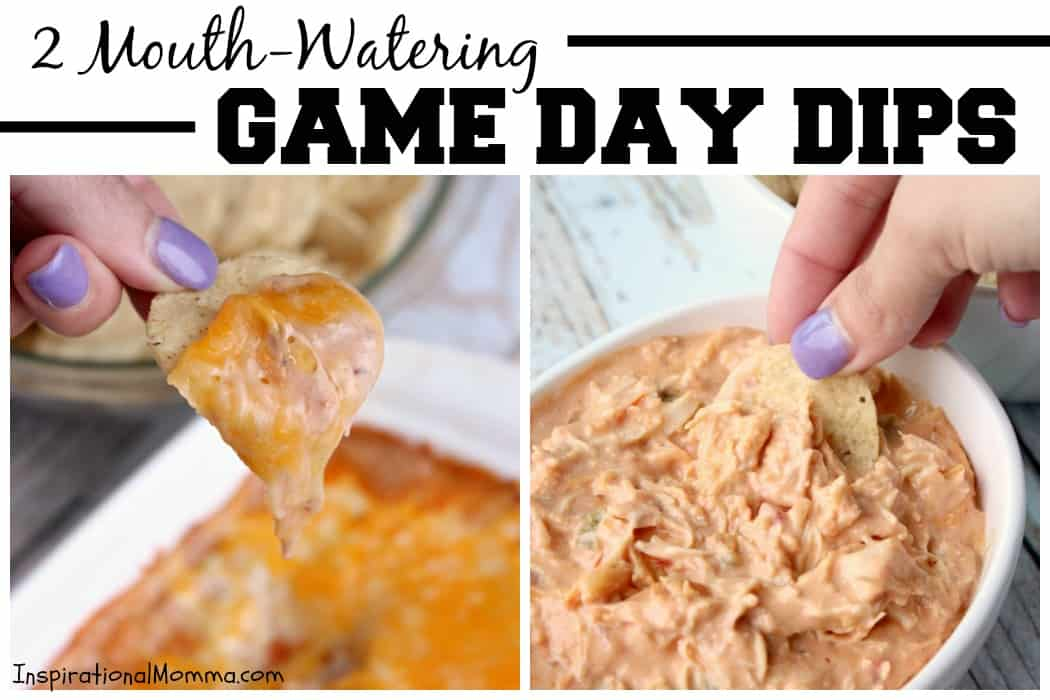 It's game day! Whip up these Mouth-Watering Game Day Dips in no time and you'll be sure to impress your guests! #MakeGameTimeSaucy