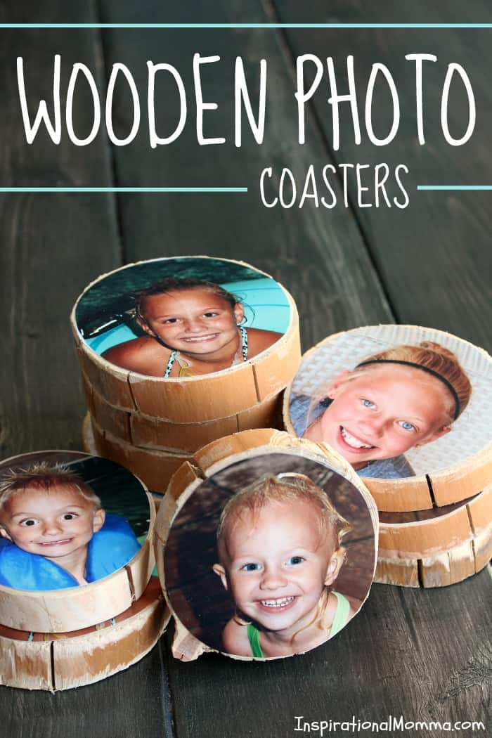 DIY Wooden Photo Coasters
