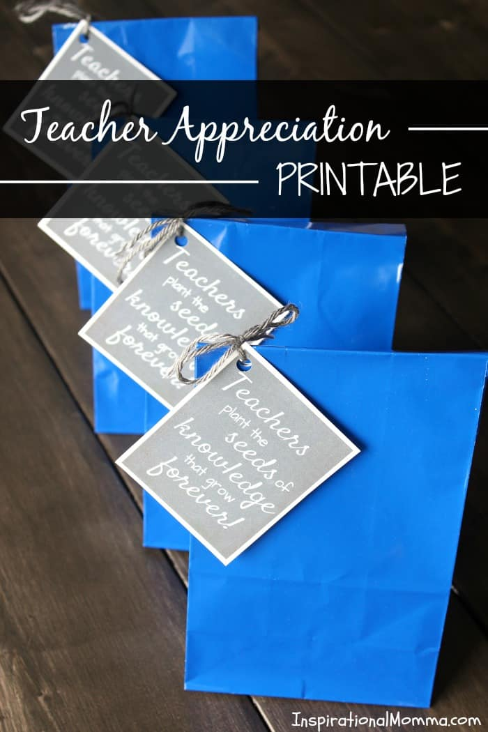 Teacher Appreciation Printable This Teacher Appreciation Printable is the perfect way to show just how much you appreciate the educator that influences your child every day!