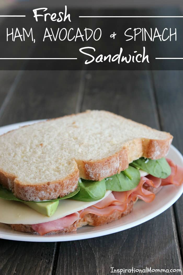 This Fresh Ham, Avocado & Spinach Sandwich is filled with amazing, crisp flavors! A delicious meal on-the-go that you will fall in love with!