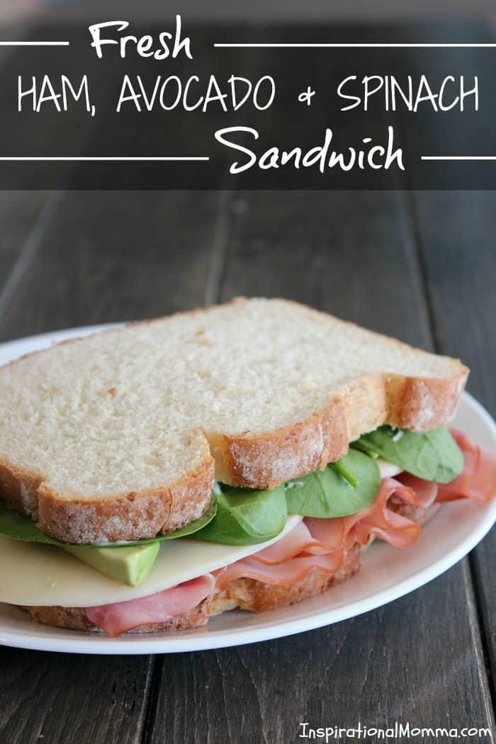 Fresh Ham, Avocado & Spinach Sandwich