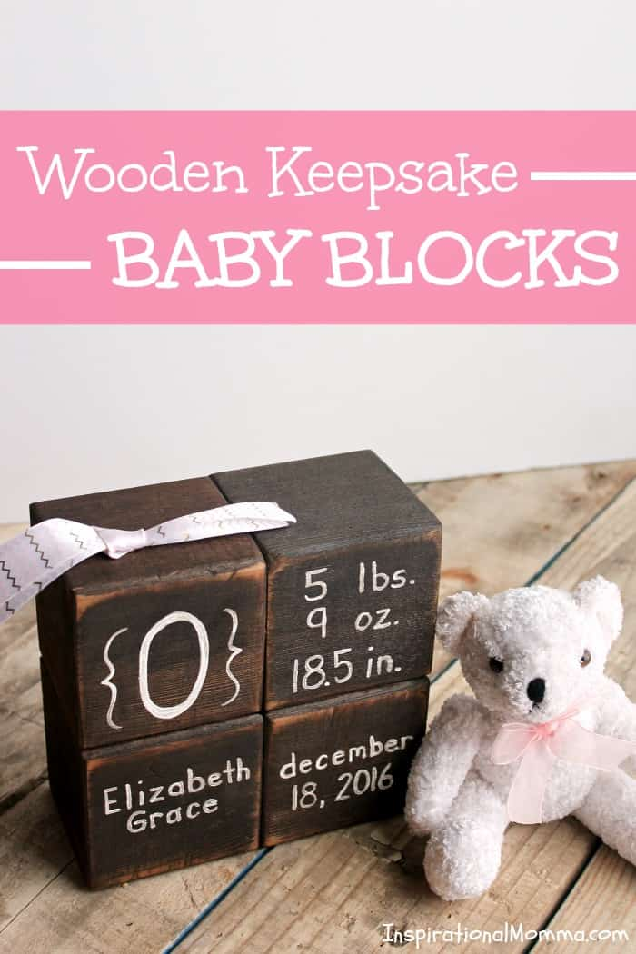 Wooden Keepsake Baby Blocks