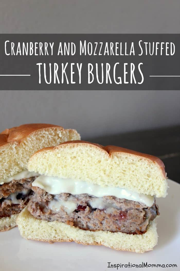 Cranberry & Mozzarella Stuffed Turkey Burgers are bursting with flavors and will definitely satisfy your appetite! Healthy and delicious!
