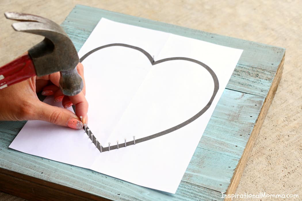 This DIY Heart String Art Sign is a simple project that anyone can do! It is also a perfect way to show someone just how much you care!