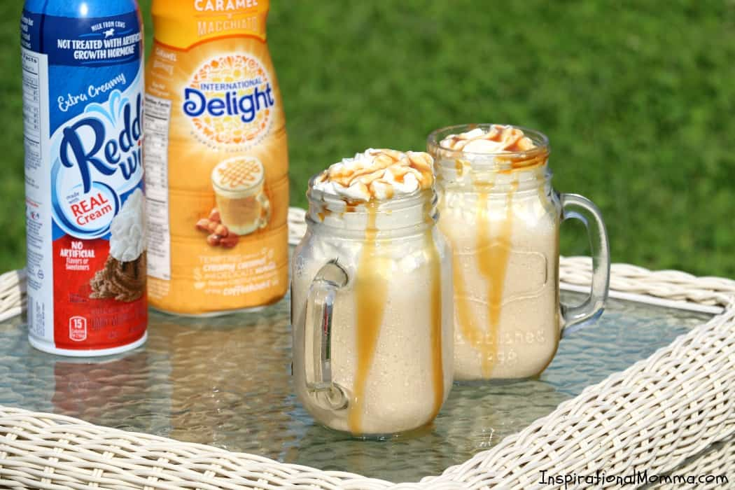 This Sweet & Salty Caramel Frappe is a little sweet, a little salty, and a whole lot of deliciousness! Creamy, cool, and refreshing!