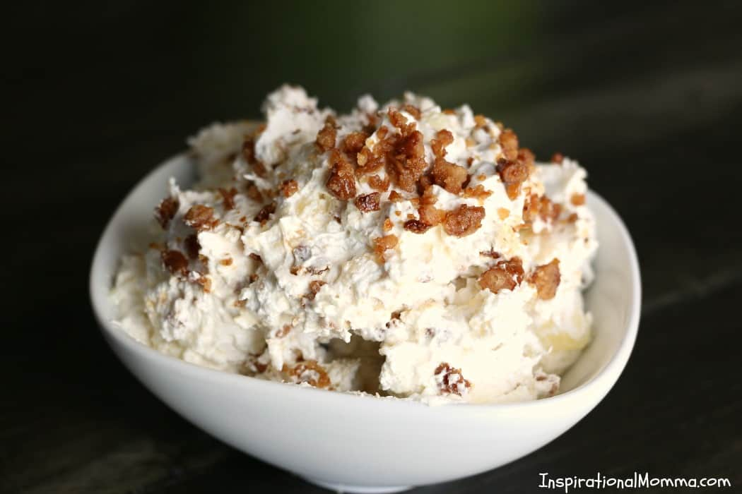 Creamy, crunchy, and so sweet! This Easy Creamy Pineapple Fluff is simple to make and will quickly be added to your list of favorites!