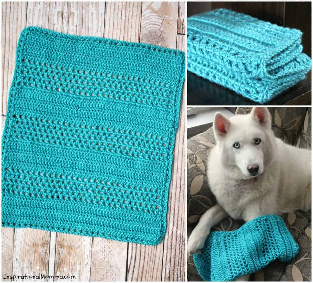 This soft and snuggly Hugs & Kisses Crochet Baby Blanket is a perfect size to take everywhere. Your little one will fall in love and never let it go!