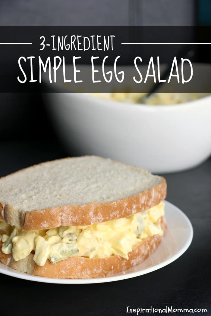 3-Ingredient Simple Egg Salad is quick and easy while having a perfect combination of delicious flavors. A great lunch, snack, or appetizer.