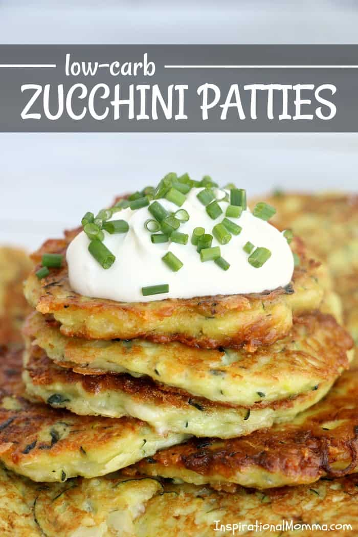 Low-Carb Zucchini Patties are a delicious side dish that you will make again and again...healthy, light, and filled with flavor.