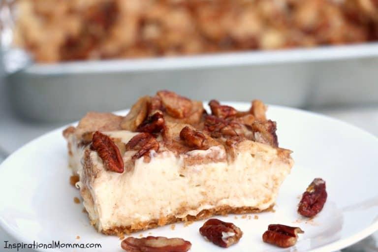 Homemade Apple Pecan Cheesecake