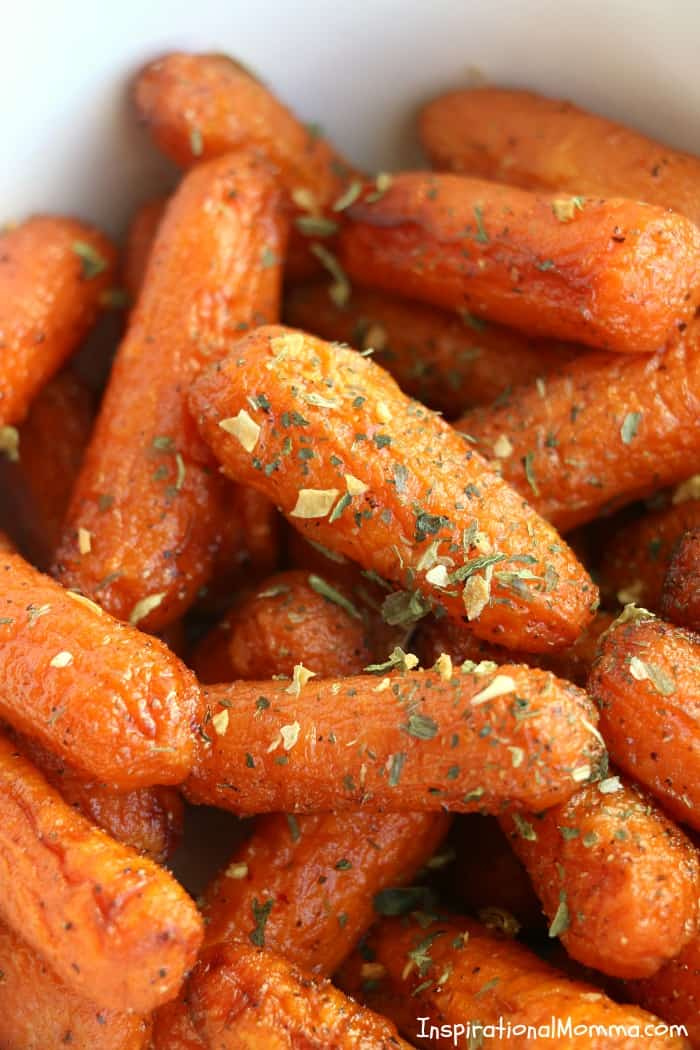 Air Fryer Brown Sugar Roasted Carrots are packed with delicious flavors! They are a tasty, easy vegetable side dish that will pair with any meal.