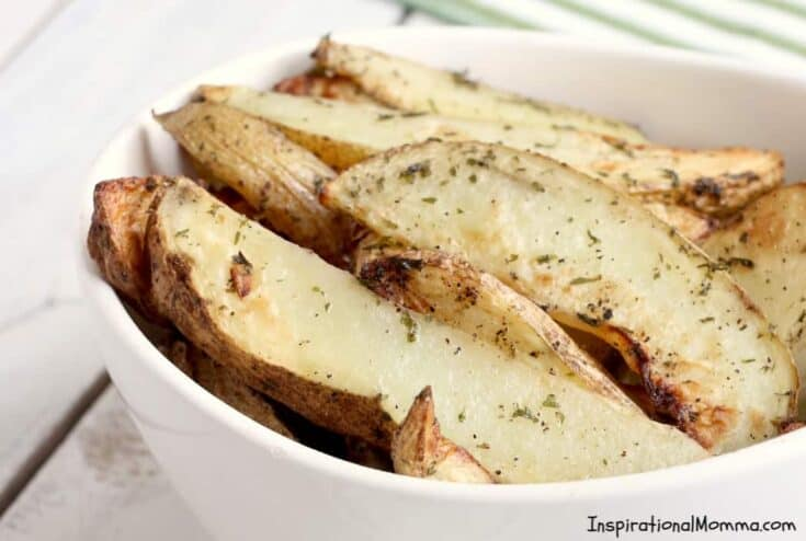 Air Fryer Potato Wedges are a perfect side dish to any meal. Simple to make and easy to enjoy, Air Fryer Potato Wedges will become a family favorite! #InspirationalMomma #airfryerpotatowedges #airfryer #potatowedges #sidedish #potatoes #recipe #recipes #appetizers #appetizer
