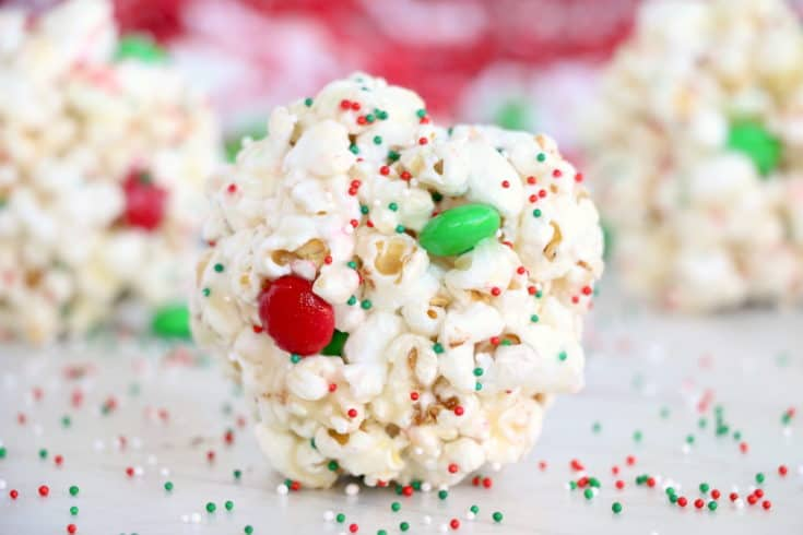 Easy Popcorn Balls are a perfect sweet, delicious treat for any occassion. This old-fashioned recipe is sure to put a smile on everyone's face! #inspirationalmomma #easypopcornballs #popcornballsrecipe #recipe #dessert #sweet #easy #Christmas #holidays