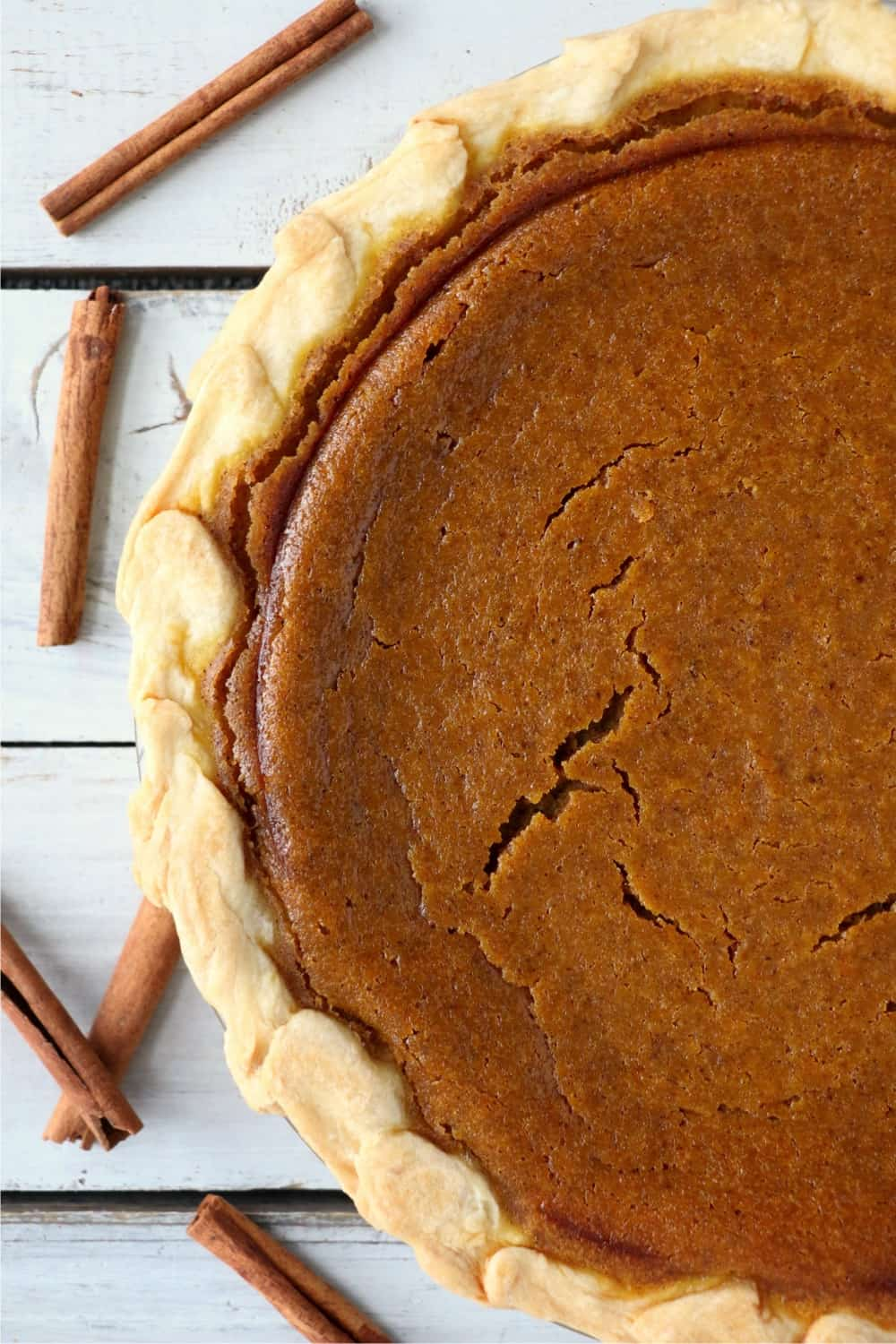Baked pumpkin pie.