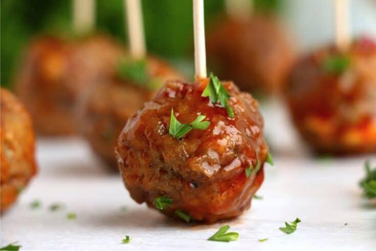 Crock Pot Honey Garlic Meatballs