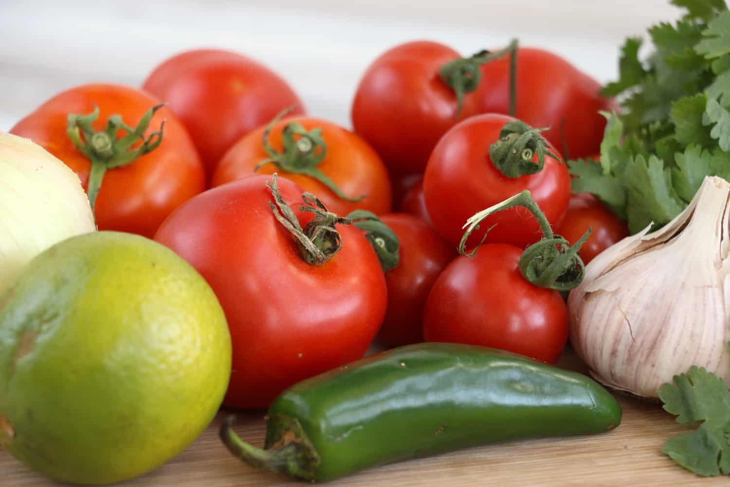 Homemade salsa recipe with fresh tomatoes