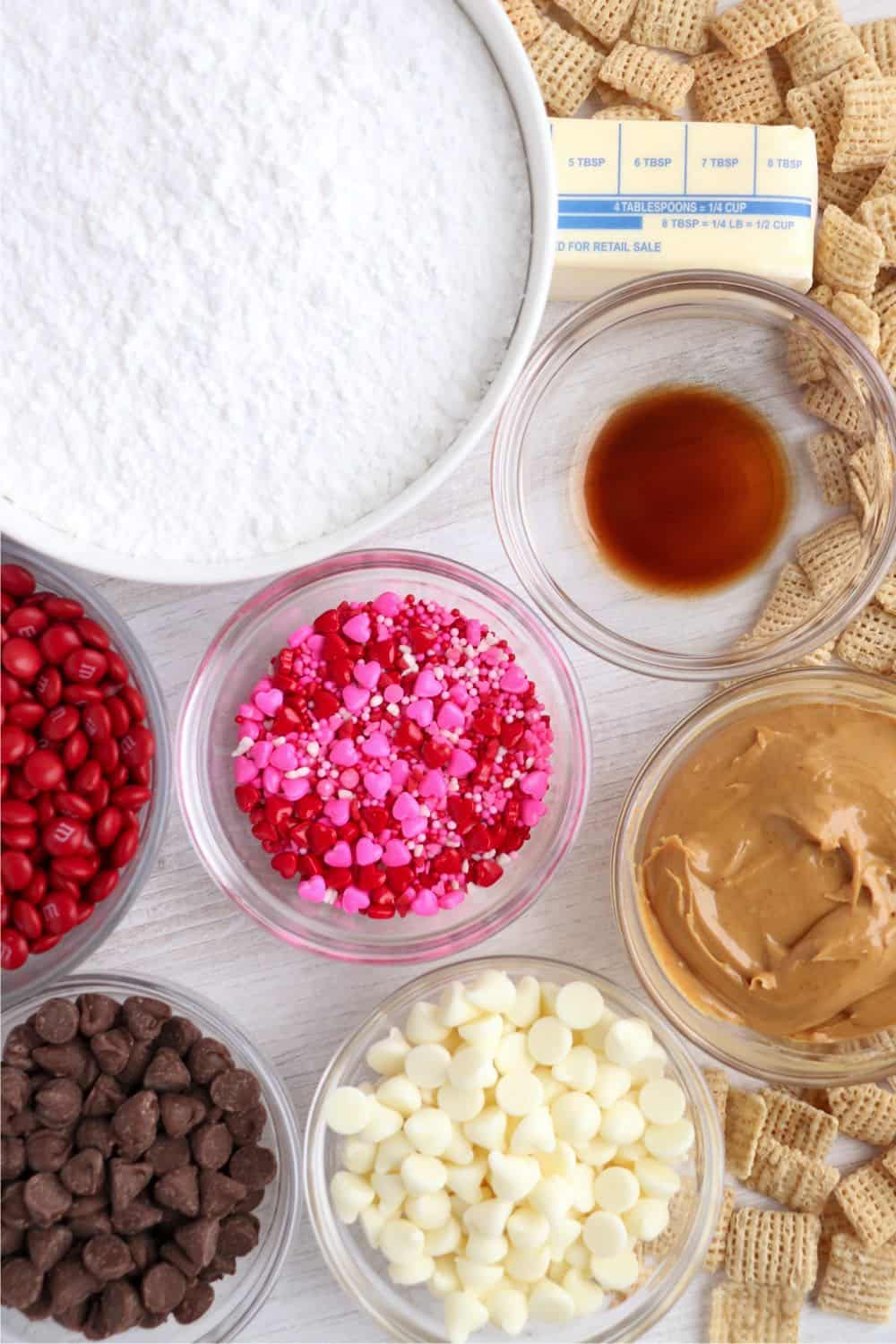 Peanut Butter Puppy Chow ingredients