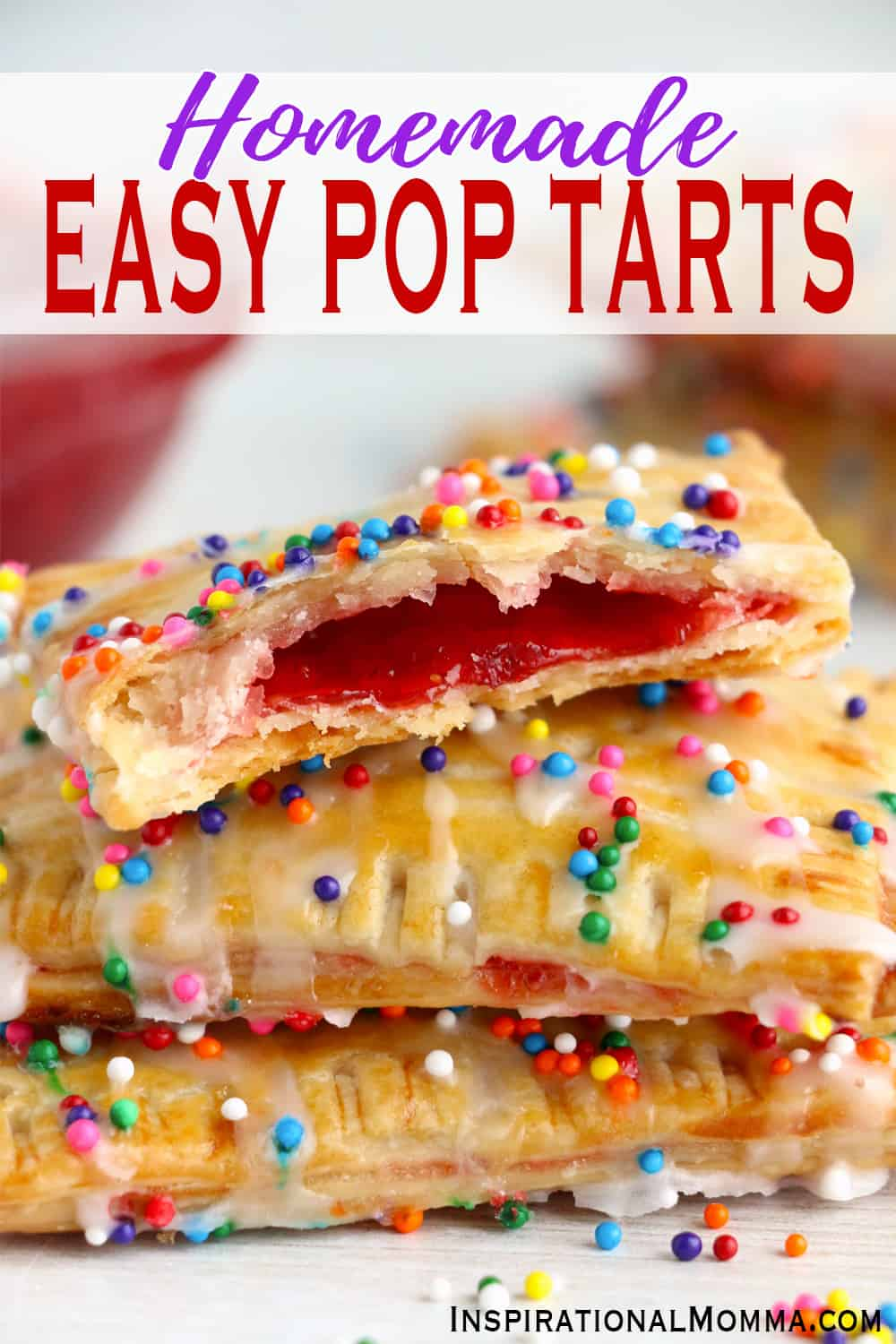 Homemade Easy Pop Tarts are made with 5 ingredients and packed with flavor. A light, flaky crust filled with your choice of fruit filling!
