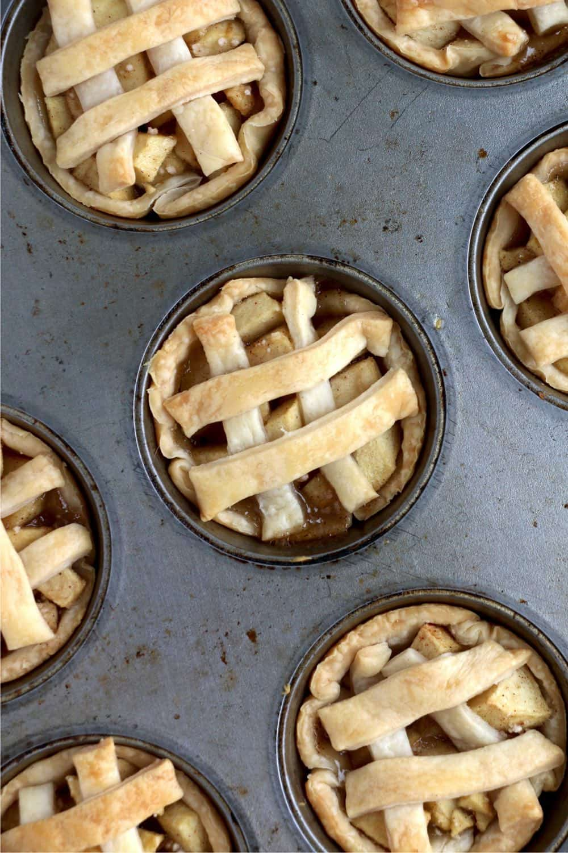 Baked miniature apple pies