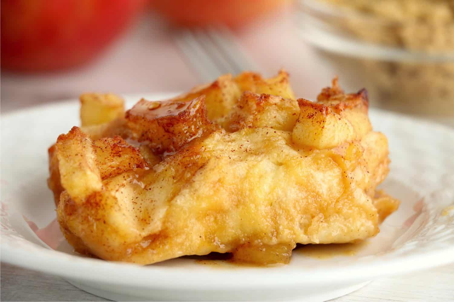 a piece of air fryer apple danish on a plate