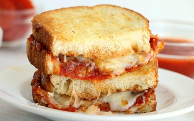 Air Fryer Pizza Grilled Cheese