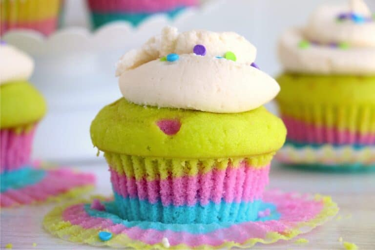 Colorful Layered Cupcakes