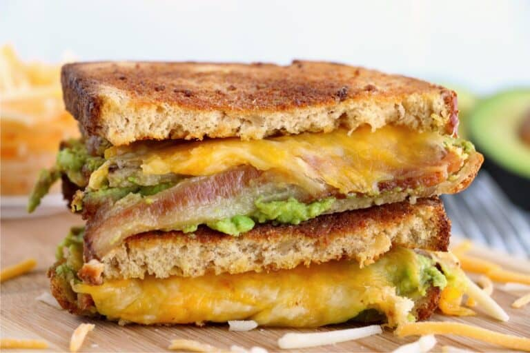 Bacon Avocado Air Fryer Grilled Cheese