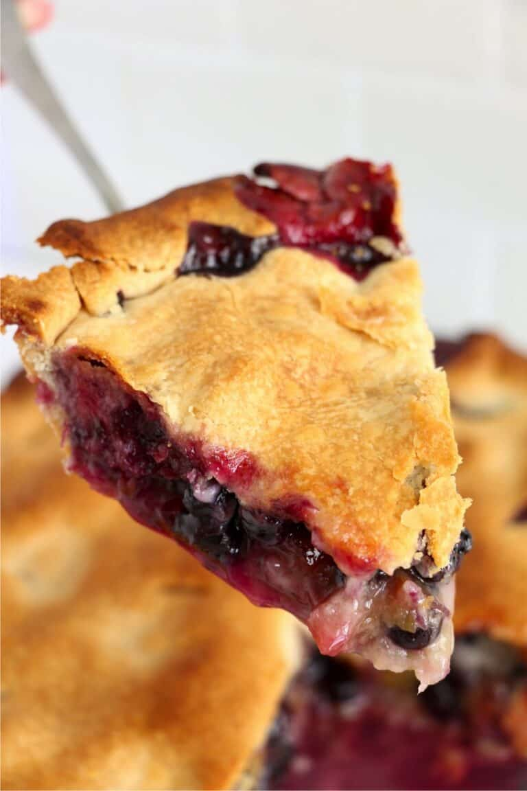 Rhubarb Blueberry Pie
