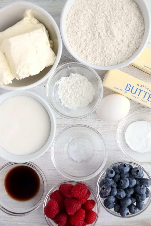 ingredients for sugar cookie cups