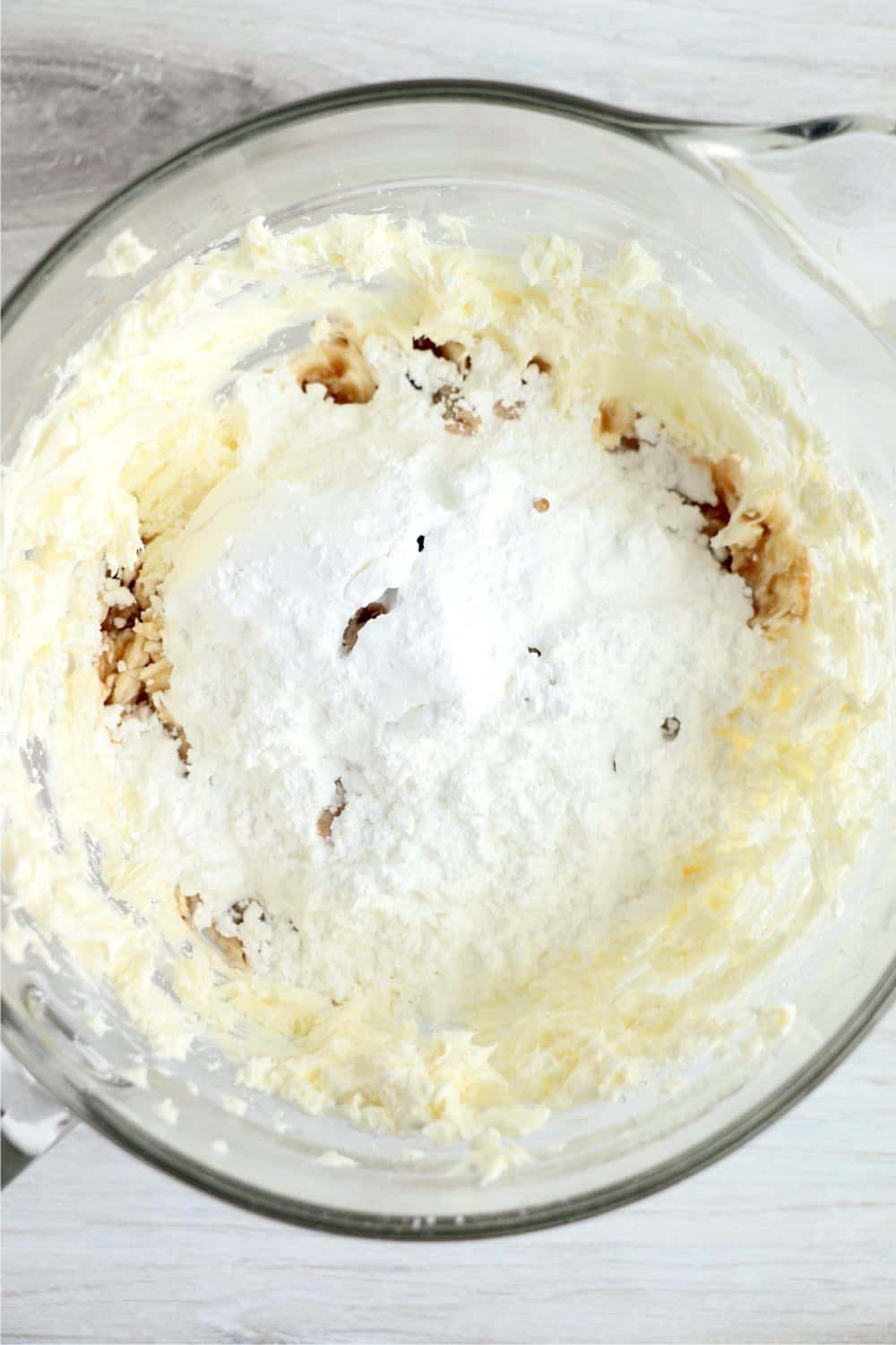 cheesecake filling in mixing bowl